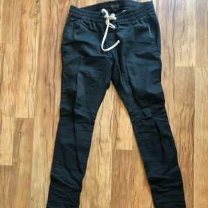 Men's black Pacsun trousers slim fit with zippers